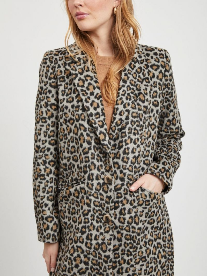 Leopard Print Jas - Bruin