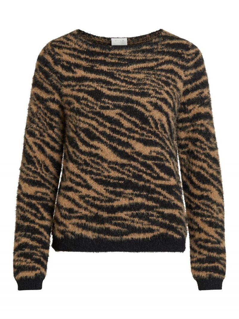 Pullover Tijgerprint - Bruin
