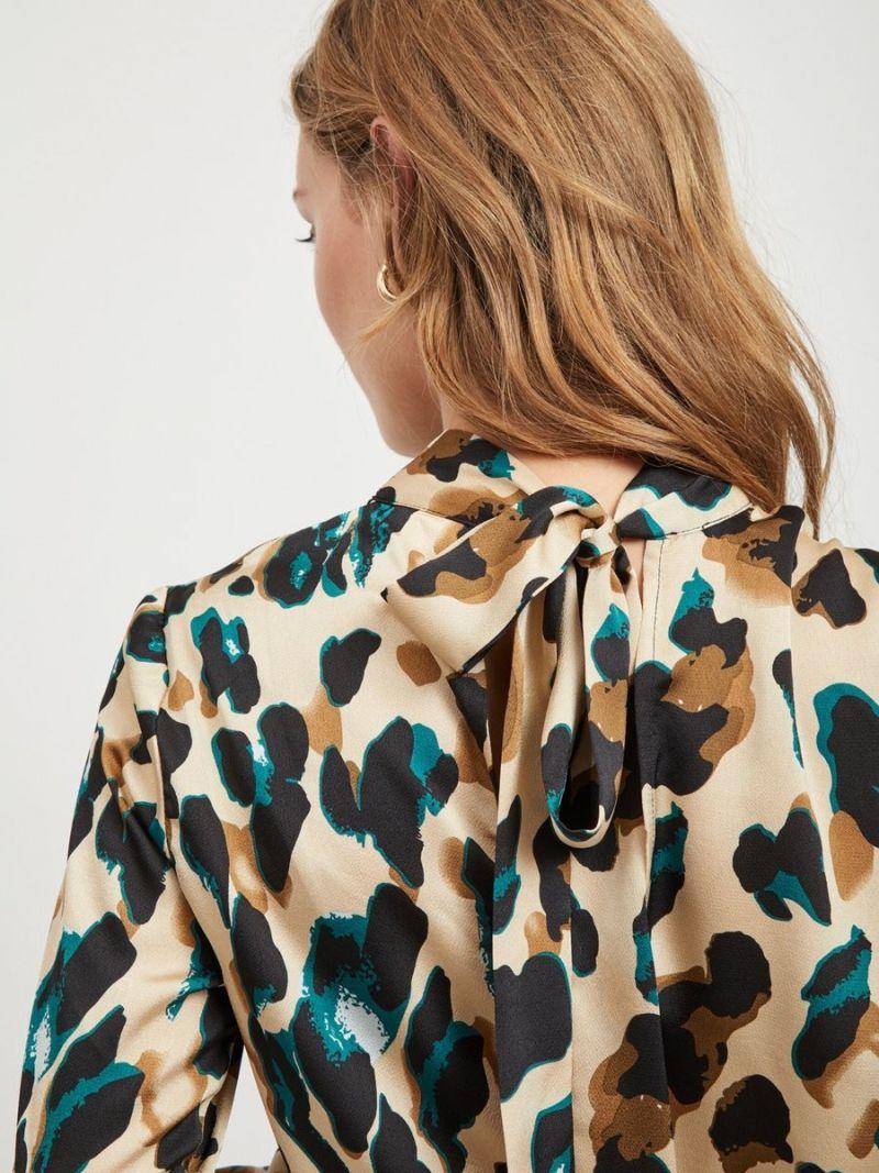 Top met Leopard Print