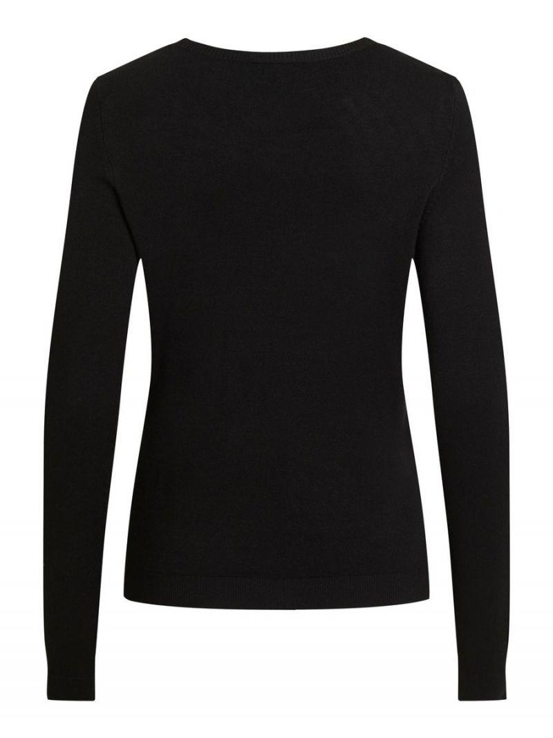 Fijnbrei Pullover met Ronde Hals - Zwart