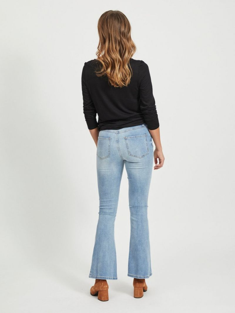 Flared Jeans Broek - Light Denim