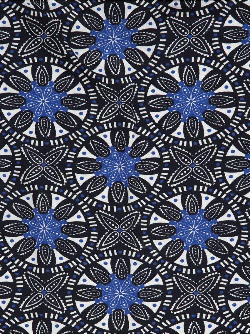 20286 Lola Scarf - Off White/Dark Blue