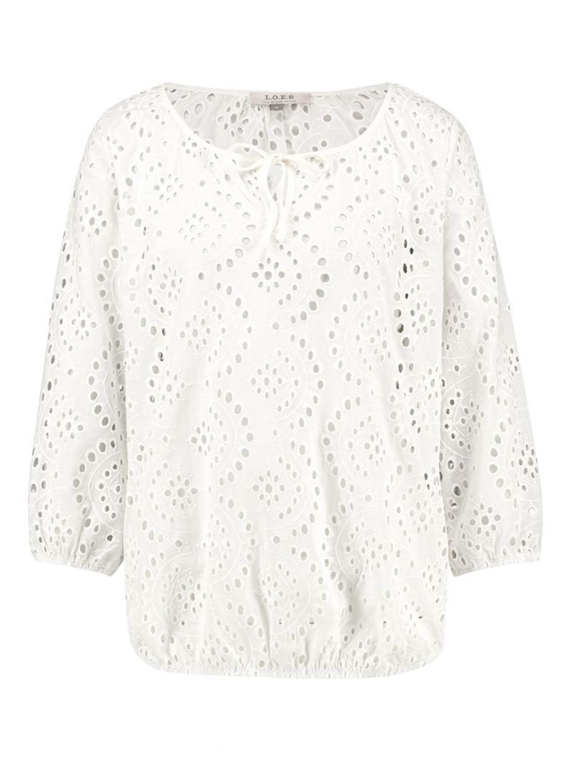 20384 Bettine Broderie Top - Wit