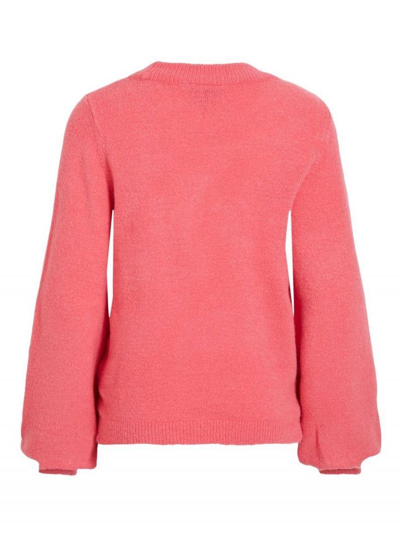 Pullover met Ballonmouwen - Roze