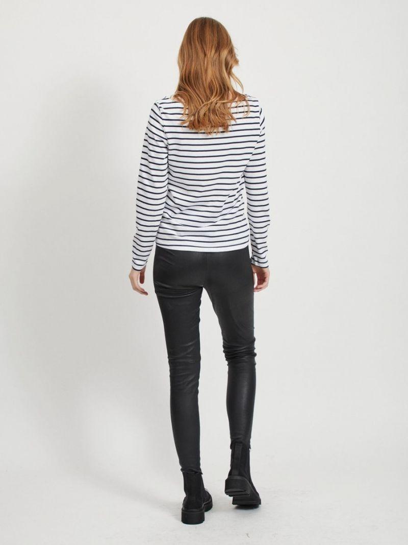 Streep Shirt Modal/Katoen - Wit