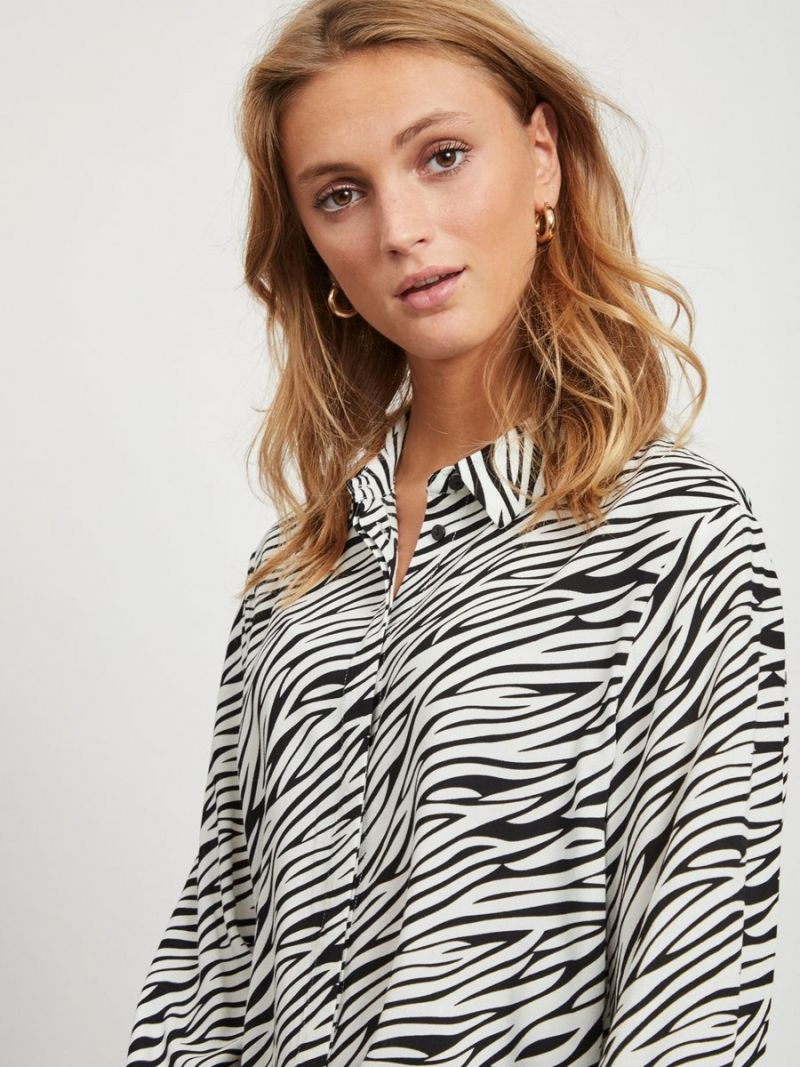 Blousje Zebra Print- Zwart/wit