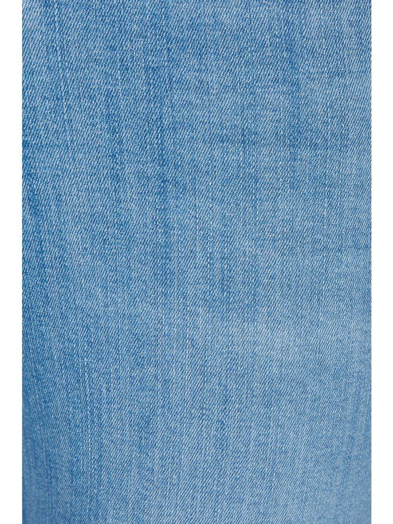 Skinny Ankle Zip Denim Broek - Licht Blauw