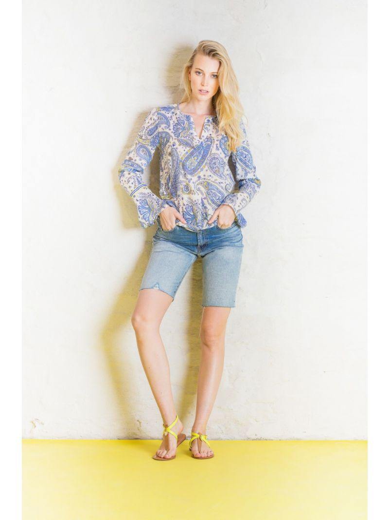 Paisley Print Blousje - Blauw