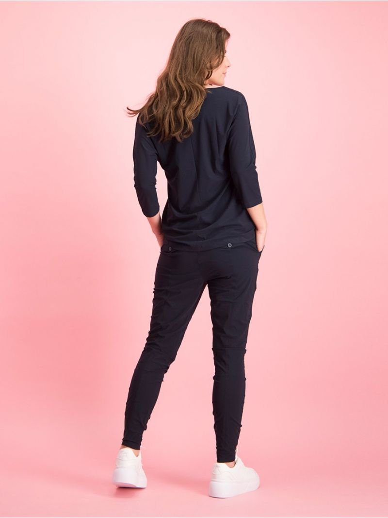 91934  New Franka Trousers - Donker Blauw