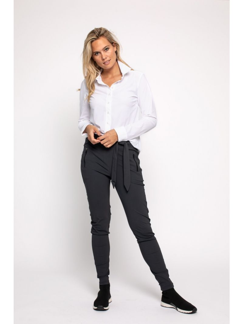 92720 Margot Travel Trousers - Antraciet