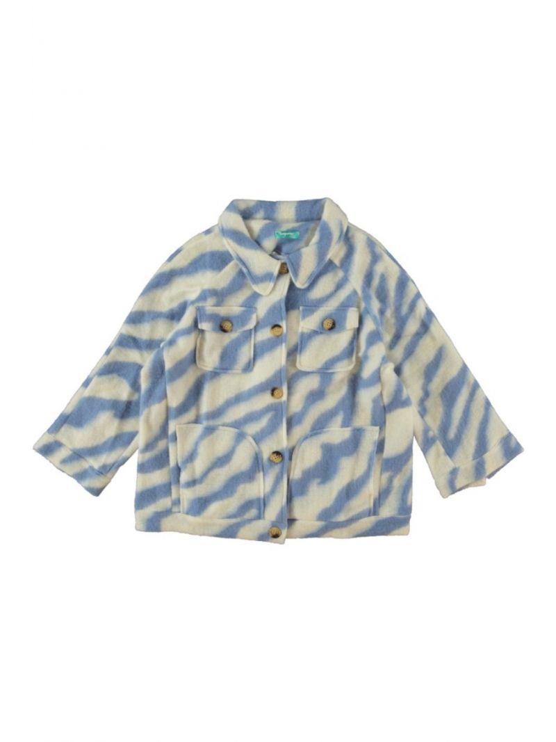 Jacket Zebra Print - Licht Blauw