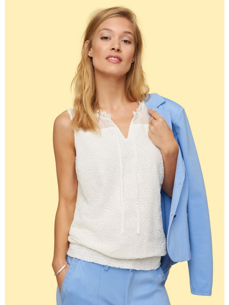 Broderie Top ml stofmix