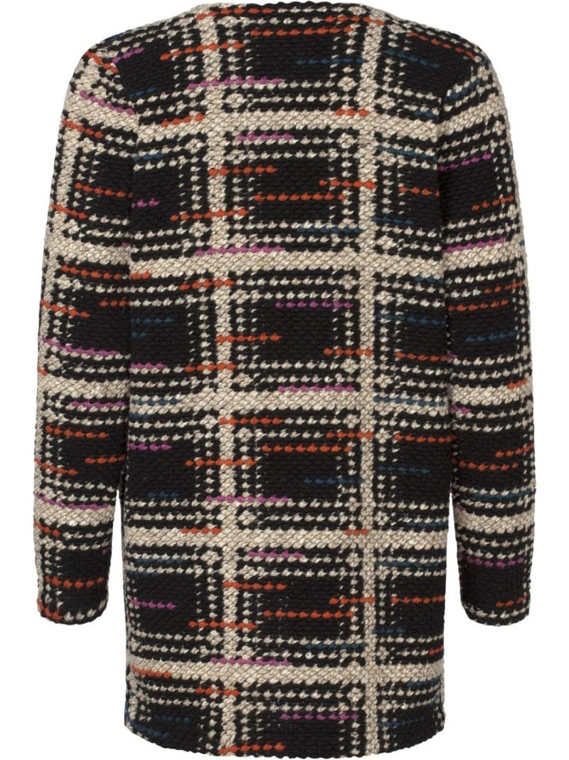 Cardigan Check - Zwart