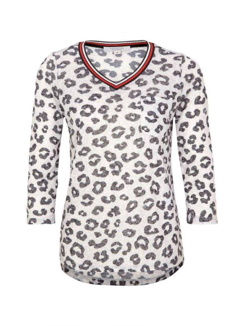Shirt Leopard Print - Grijs