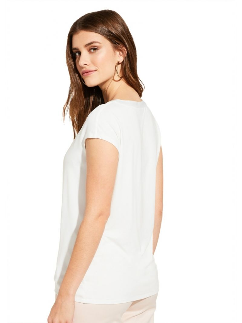 Casual Stofmix Shirt - Off White