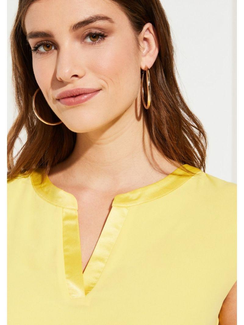 Casual Stofmix Shirt - Geel