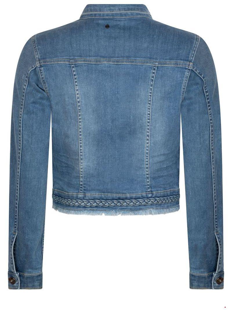 Jeans Jackje met Vlecht Detail - Blauw