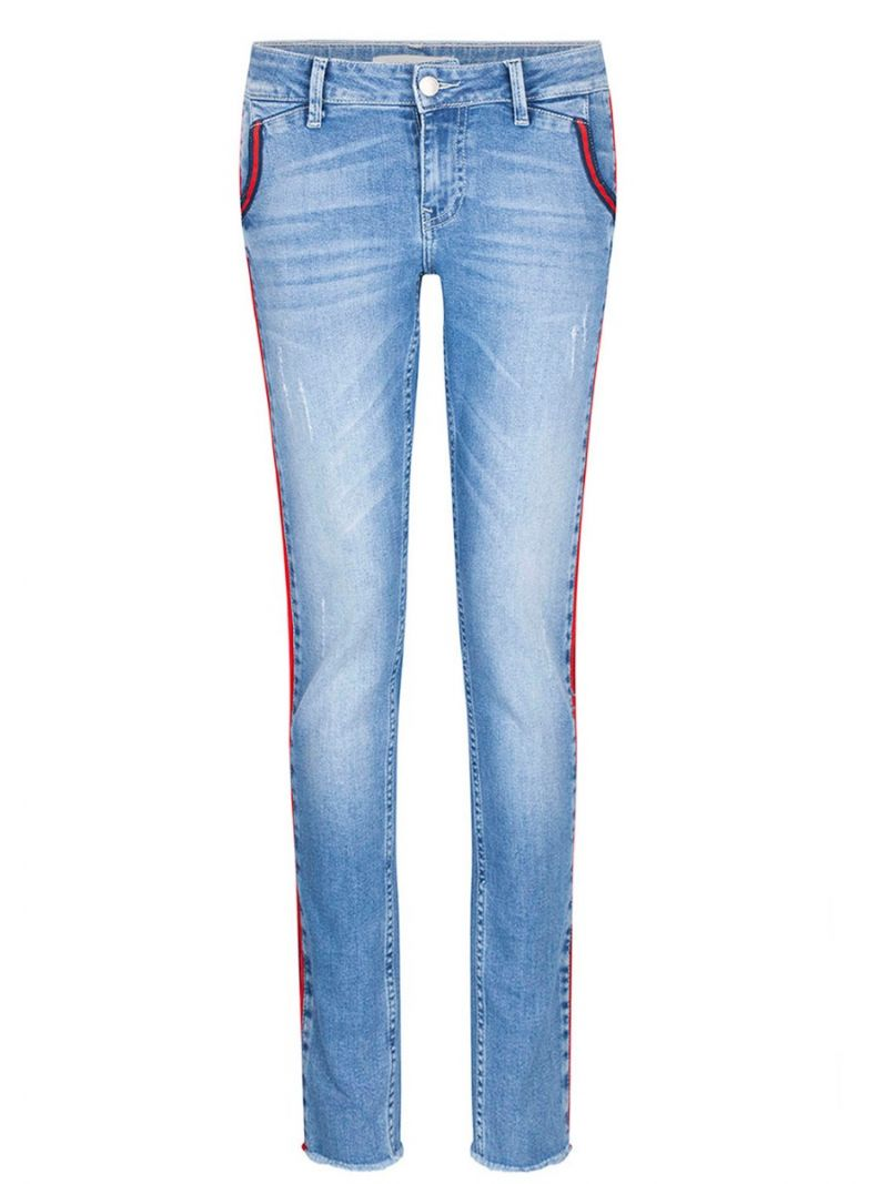 Jeans Broek-piping accent