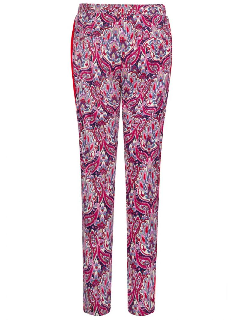 Casual-Paisley Print-Pant-Stretch