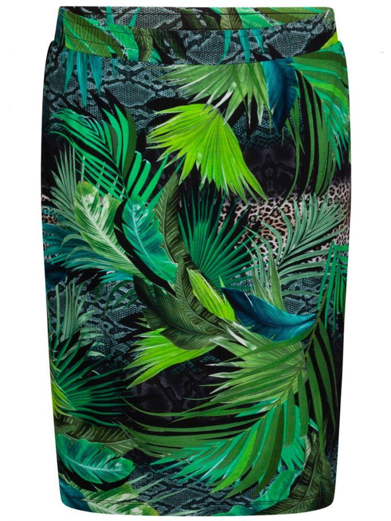Jersey Print Rokje Jungle