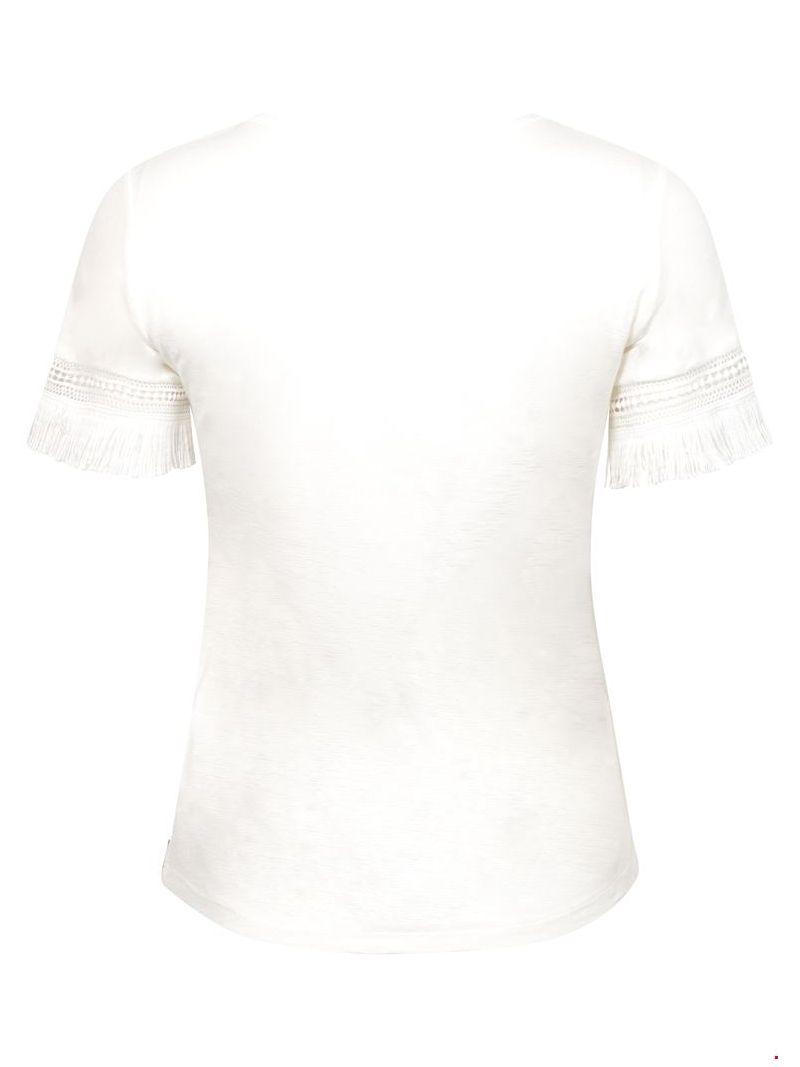 T-Shirt met Accenten - Off White