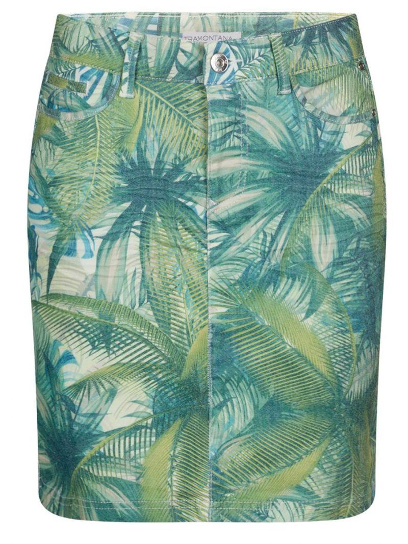 Jeans Rokje-Hawaii motief