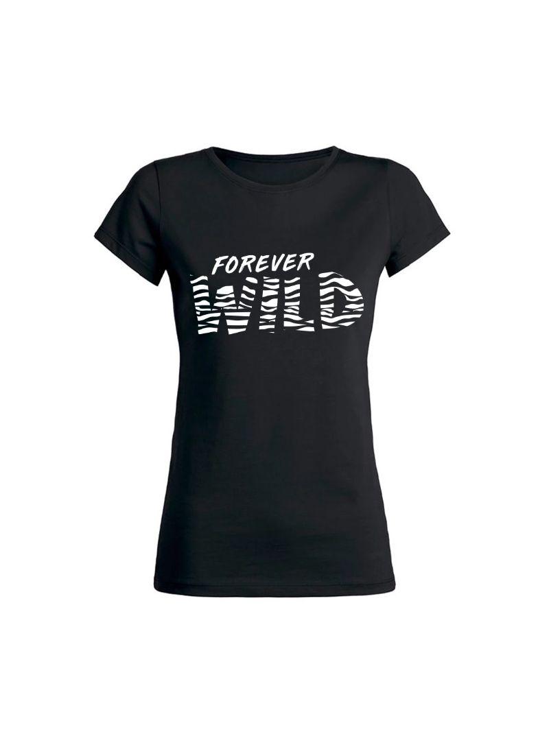 T-Shirt -Forever Wild - Zwart