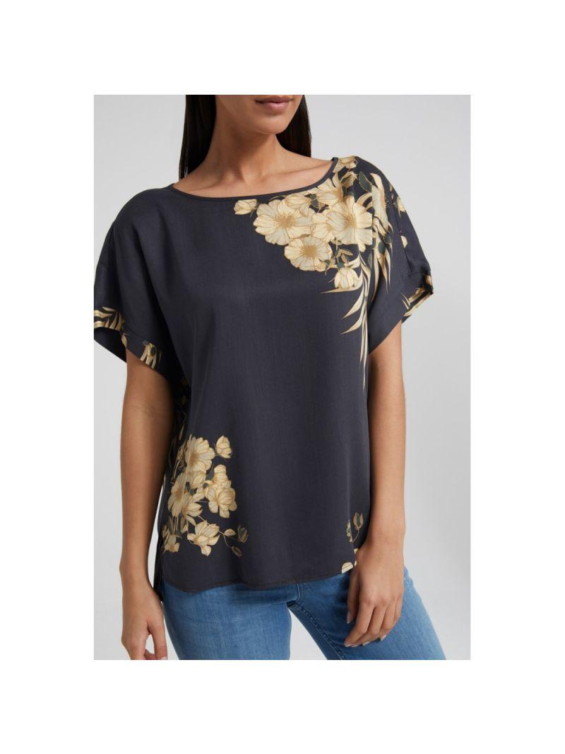 Bloemen Print Shirt - Zwart
