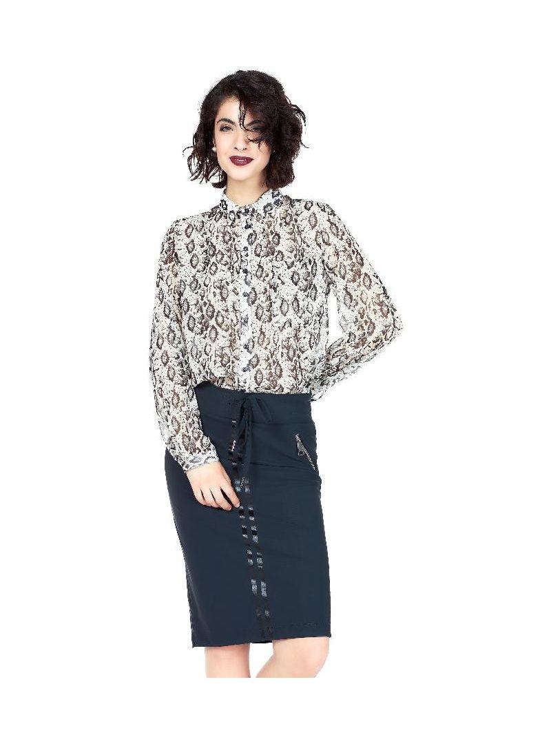 Voile snake blouse