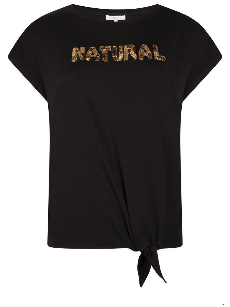 T-Shirt Natural - Zwart