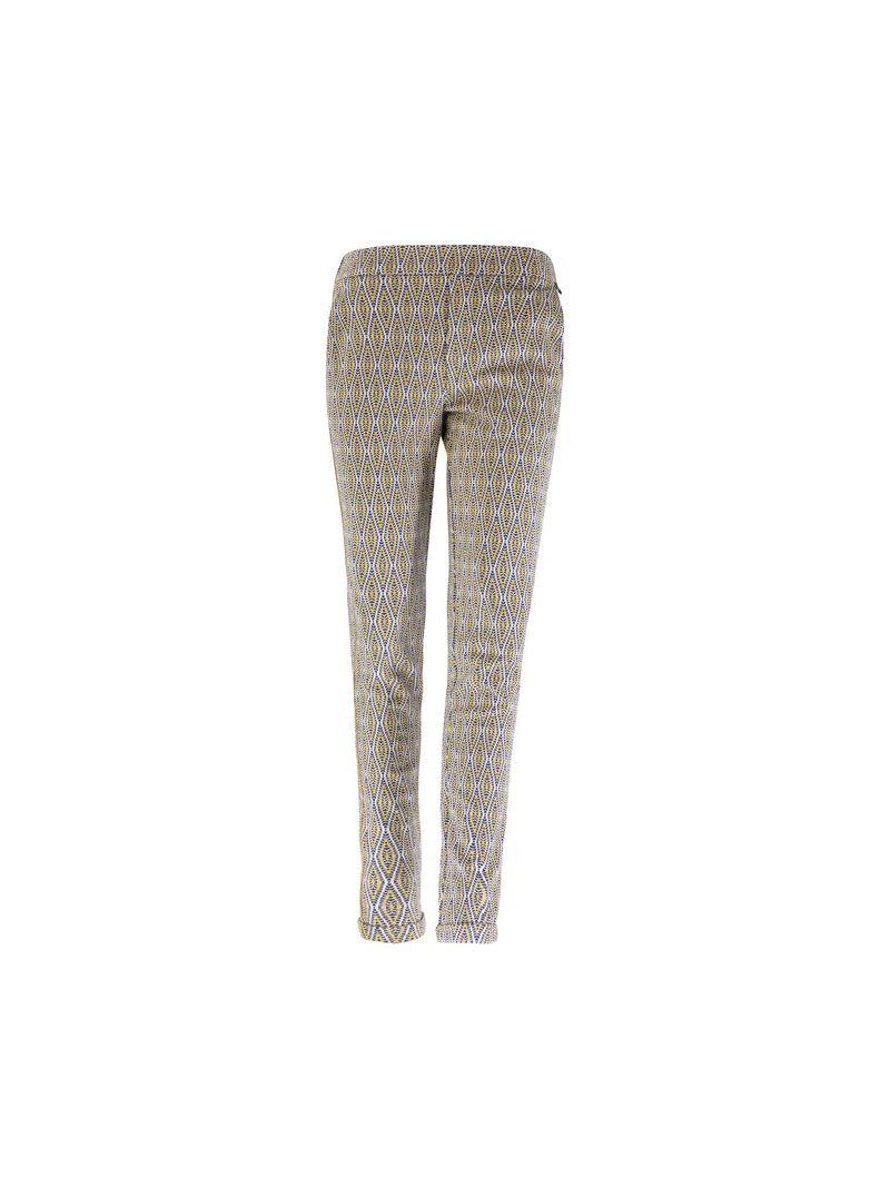 Jaquard Pantalon - Geel