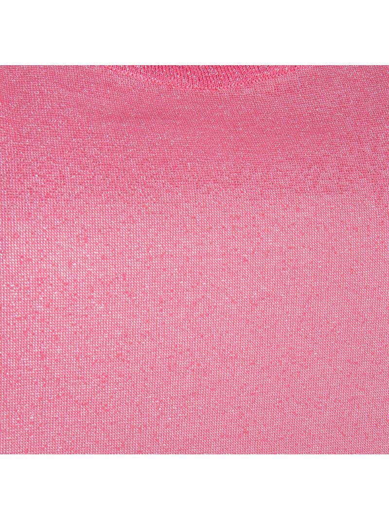 Glossy Shirt met Korte Mouw - Fuchsia