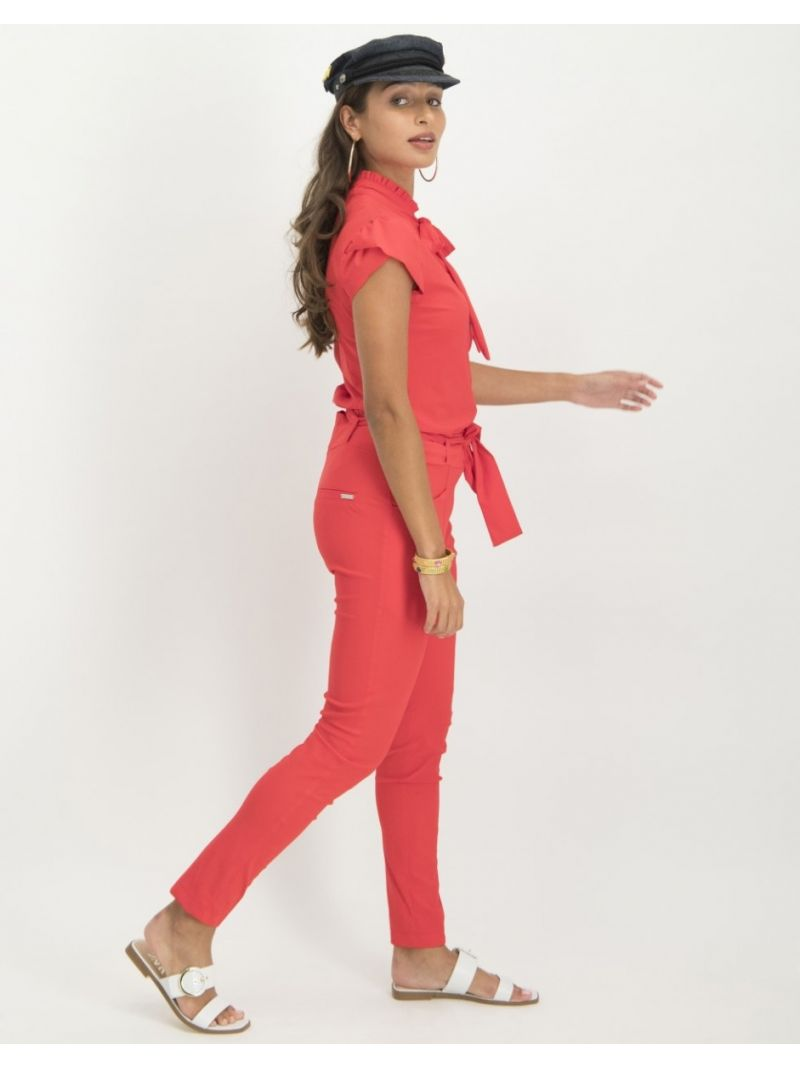 Tash Pussybow Blouse - Rood