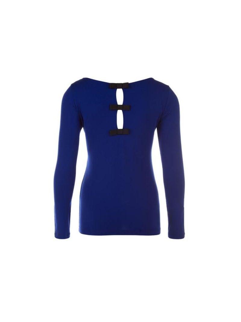 Jersey Shirt met Strikjes - Cobalt