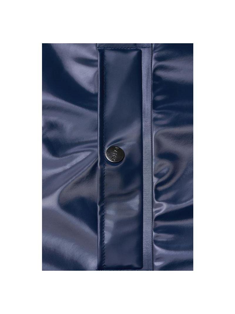 Raincoat Long - Blauw Glans