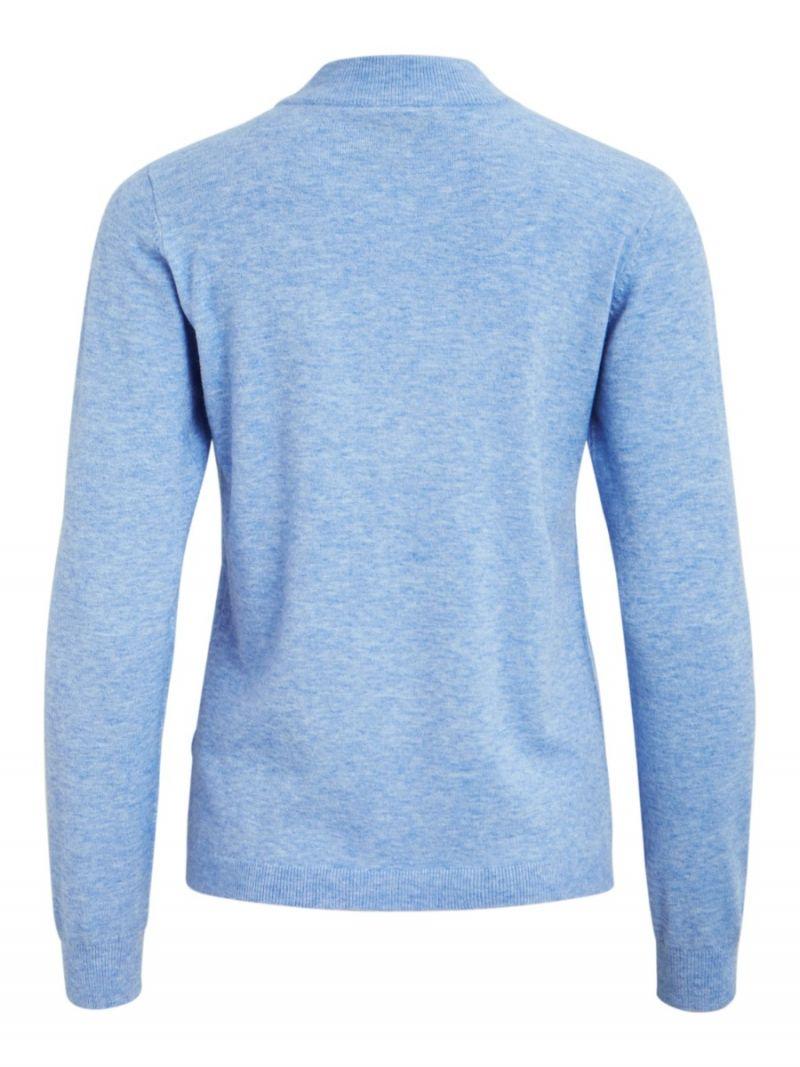 Fijnbrei Trui - Blauw Melange