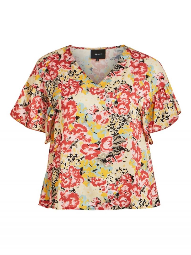 Jolly Bloemen Print Top  - Oranje