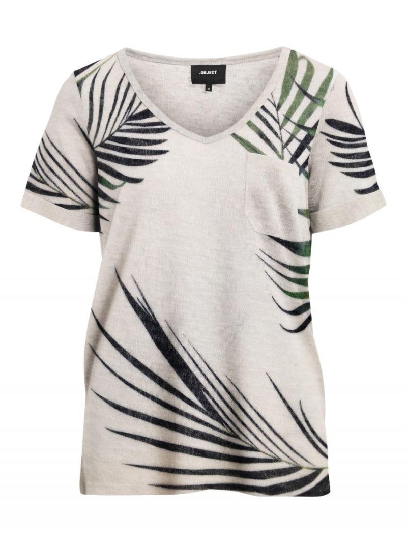 Tessi T-Shirt Big Palm - Off White