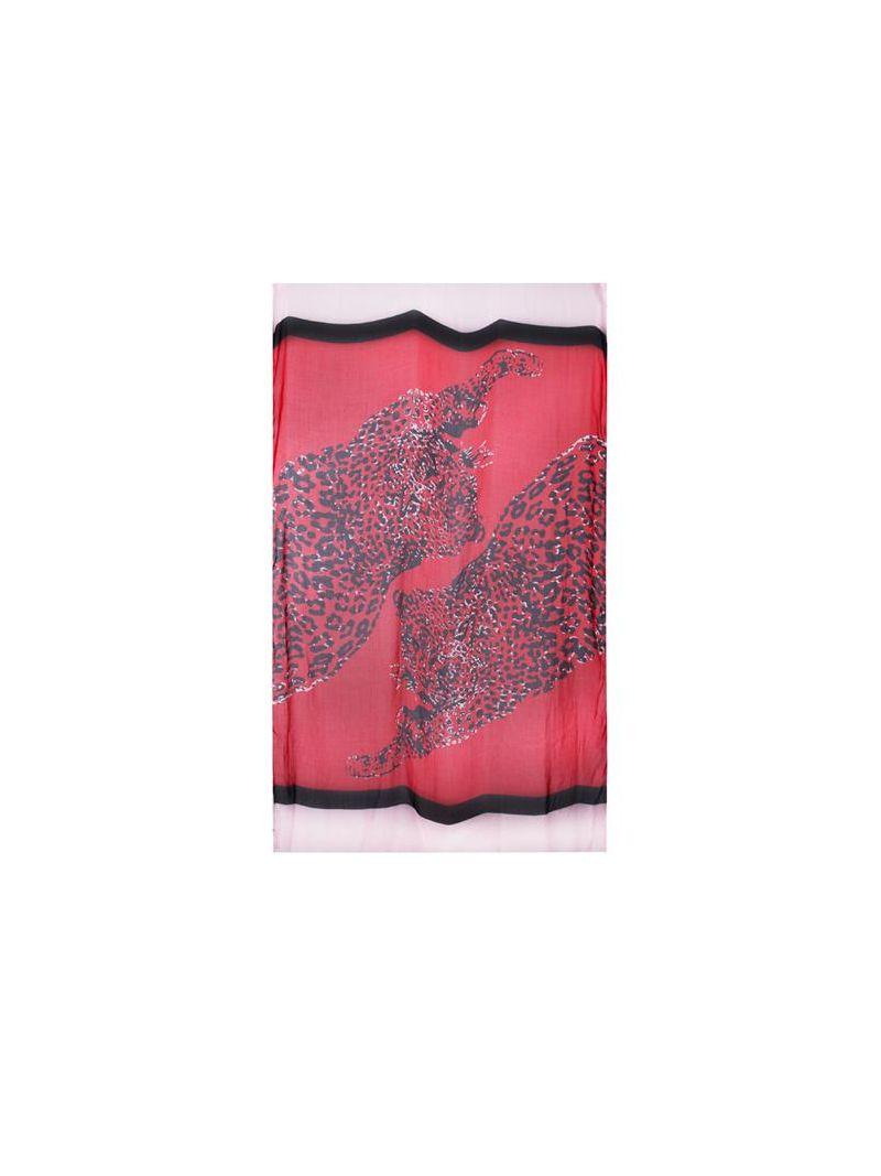 Driekleurige Shawl -Rood