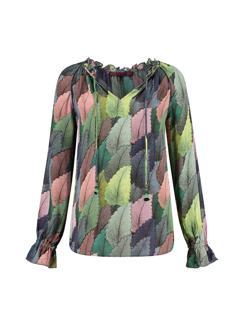 SP5966 Blouse Dreamy Leaves