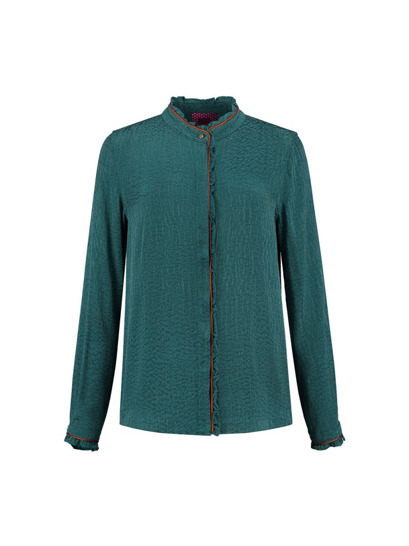 SP5968 Blouse Green Heritage