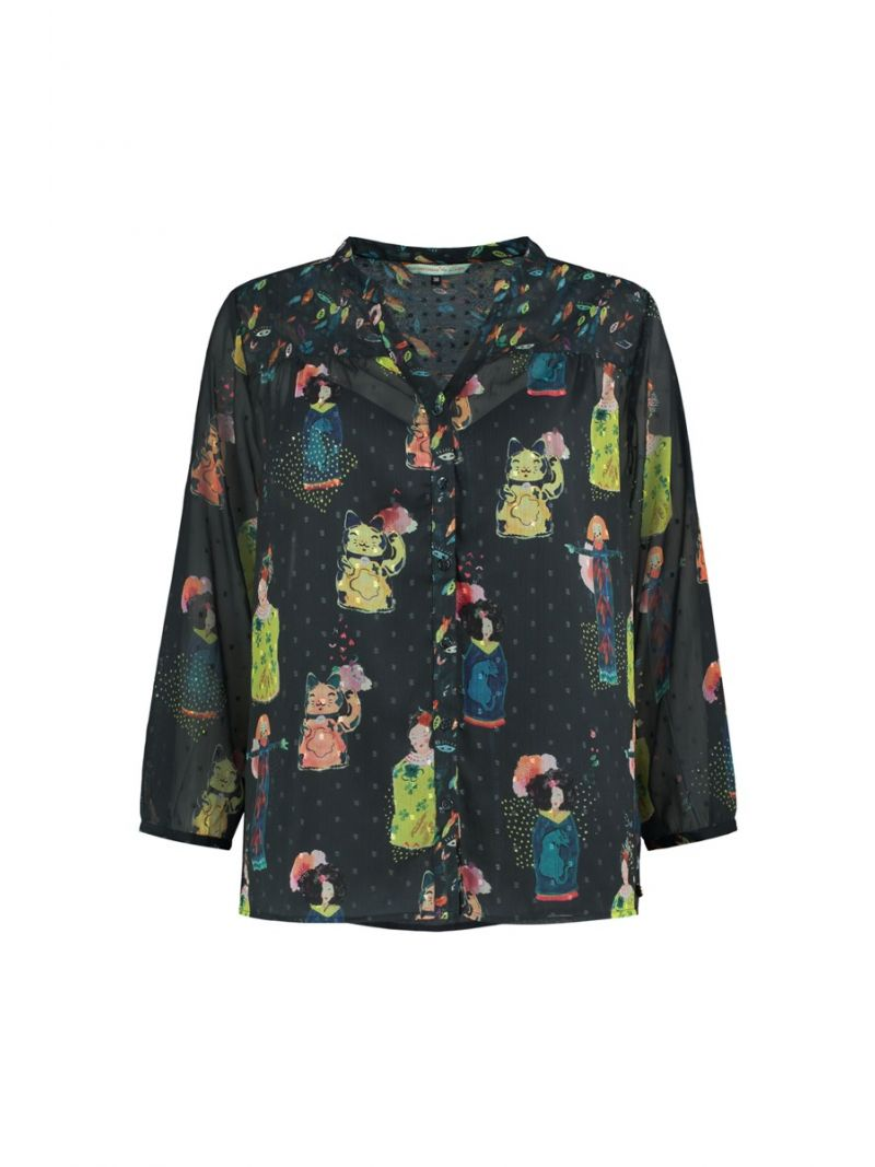 SP6198 Blouse Lucky Charms Dark - Donker Blauw
