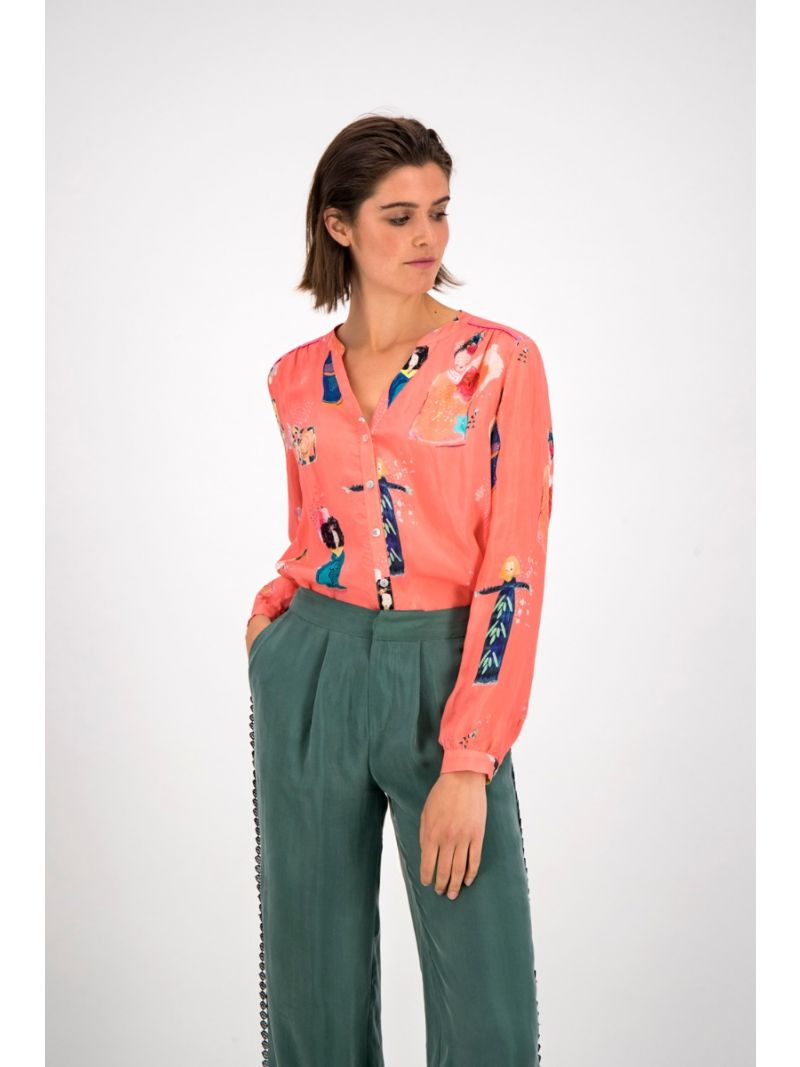SP6204 Blouse Lucky Charms - Coral