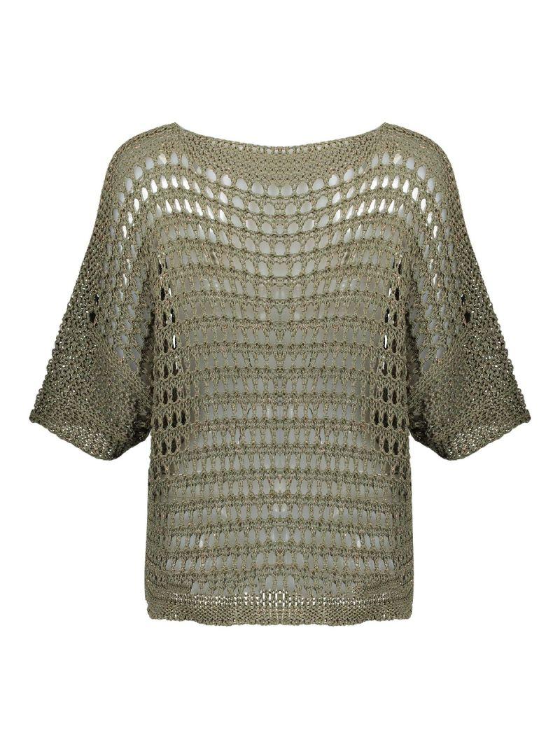 Grofbrei Pullover - Khaki