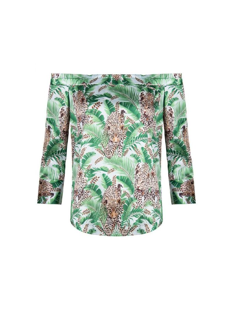 Tiger Print Blouse Top