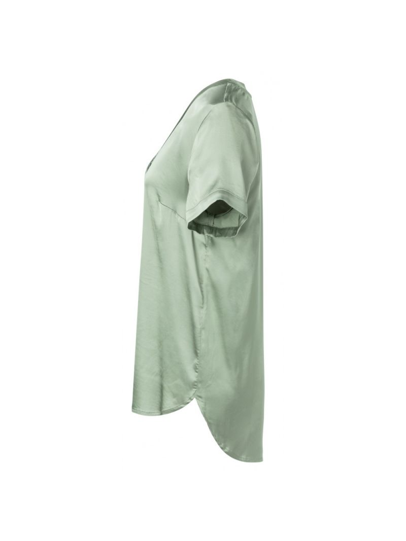 Glossy Shirt met V-Hals - Groen
