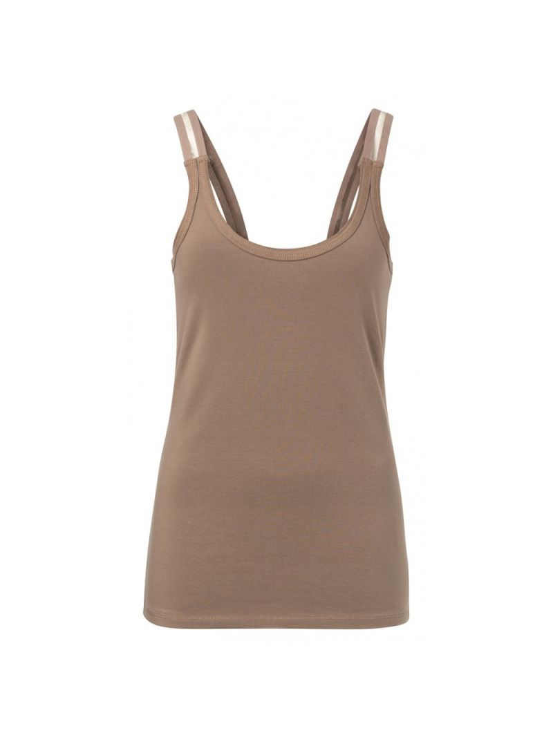 Basis Topje met Brede Band - Taupe