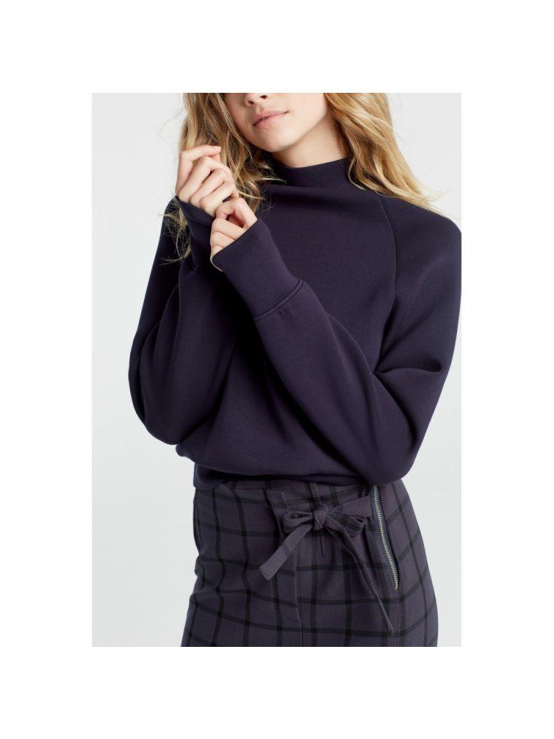 High Neck Sweatshirt - Donkerblauw