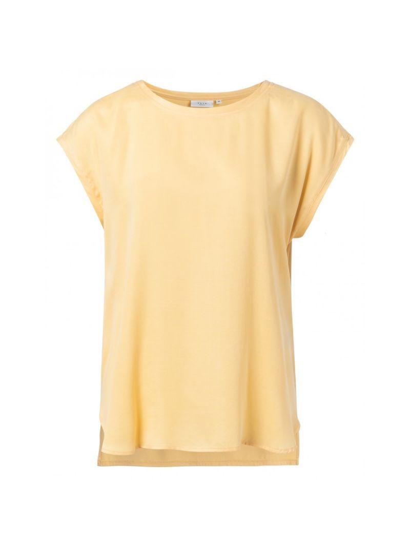 T-Shirt Korte Mouw Stofmix - Geel