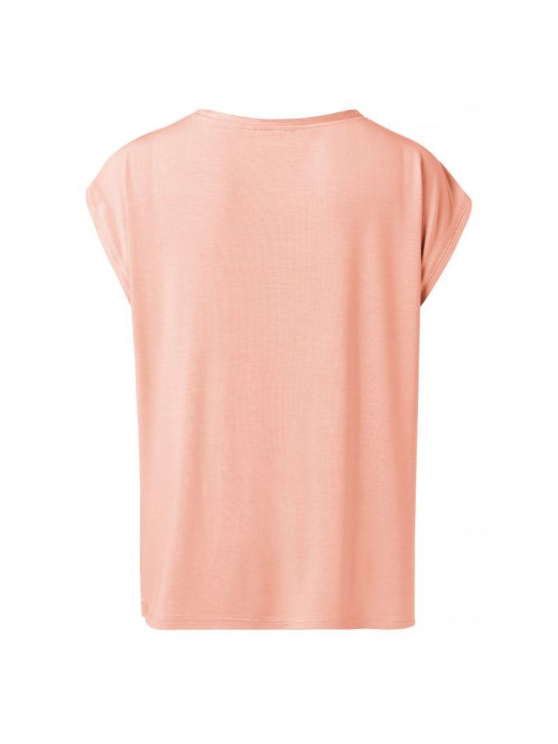 T-Shirt Korte Mouw Stofmix - Papaya